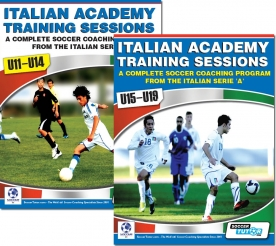 Italian Academy Training Sessions Book Set Combo for U11-19